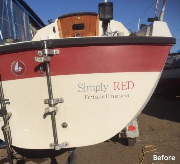 simply red boat painted