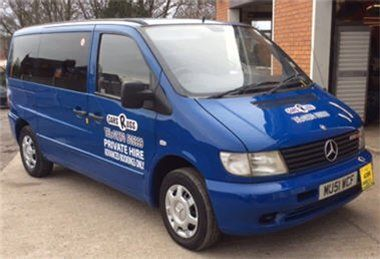 One of our company vehicles