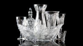 centri tavola in cristallo, sculture in cristallo, vasi in cristallo satinato