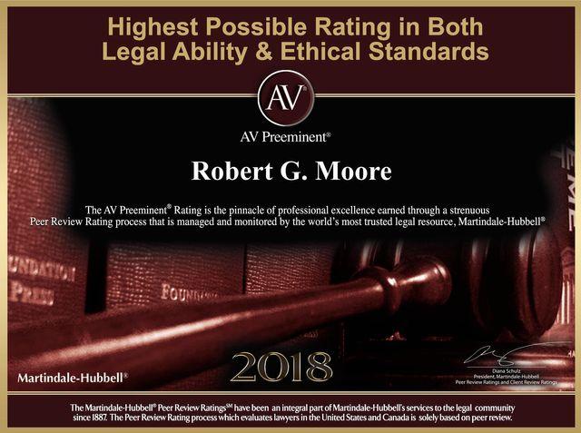 AV Award Robert G Moore