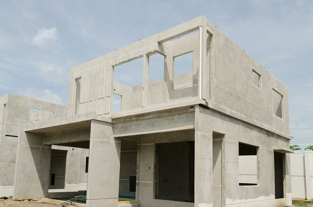 concrete foundation and building structure