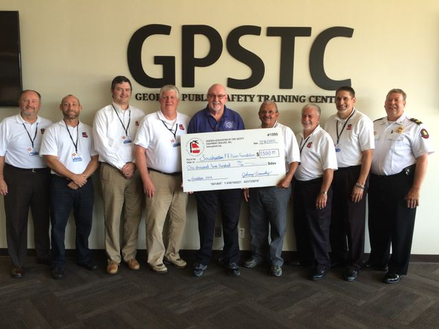 GAFSED Donates to the Georgia firefighters burn foundation