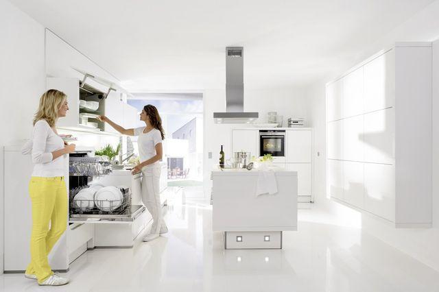 luxury kitchen diner with marble worktops