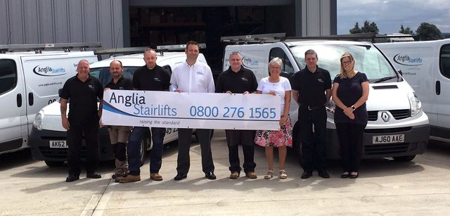 Team of professionals at Anglia Stairlifts in Peterborough