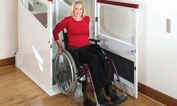 Through floor wheel chair lift offered by Anglia Stairlifts