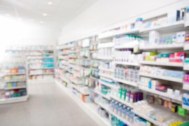Reparto cosmetico di una farmacia