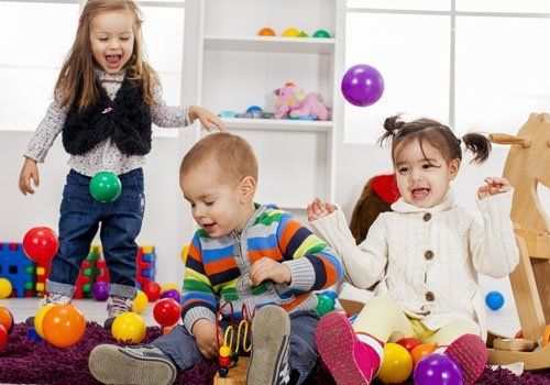 children playing in a nursery
