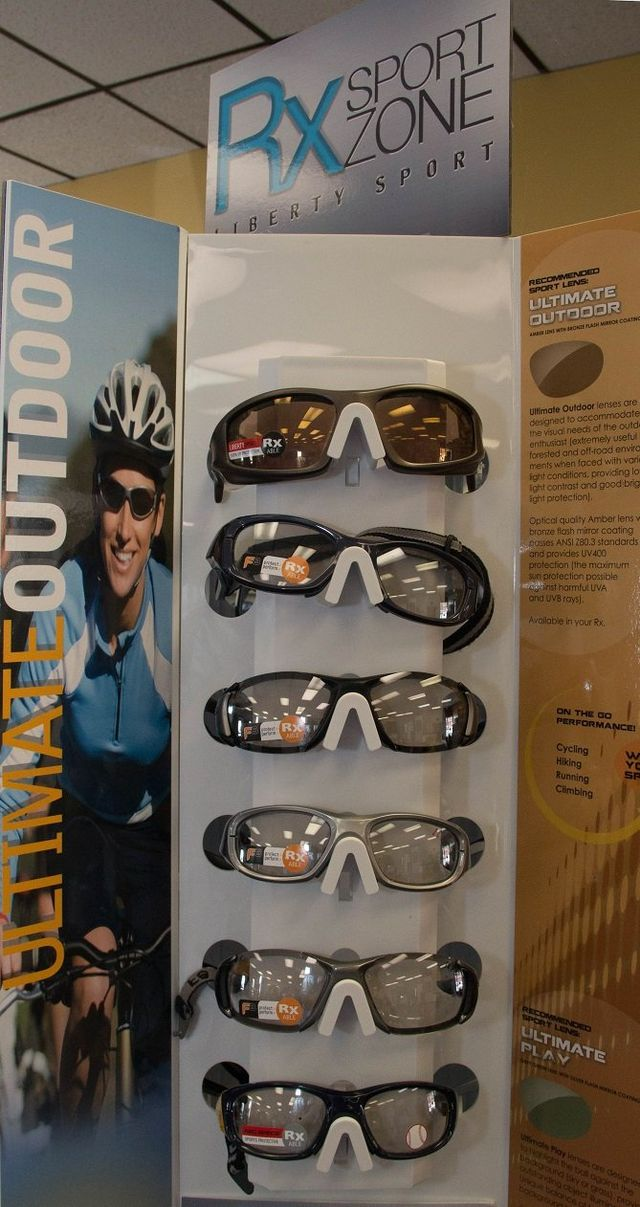 prescription sunglasses display
