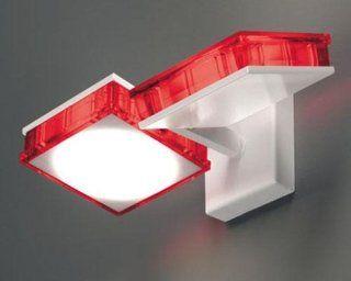 Plafoniere Quadrate Da Soffitto : Lampada led orientabile da parete quadrata como athena