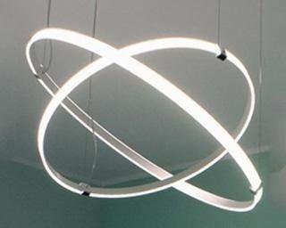 lampadario a sospensione componibile e LED a cechi - 4 misure