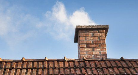 newly installed chimney