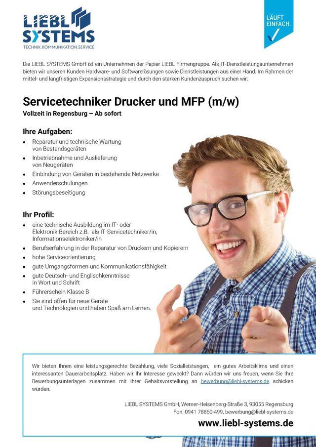 Servicetechniker Drucker und MFP (m/w)