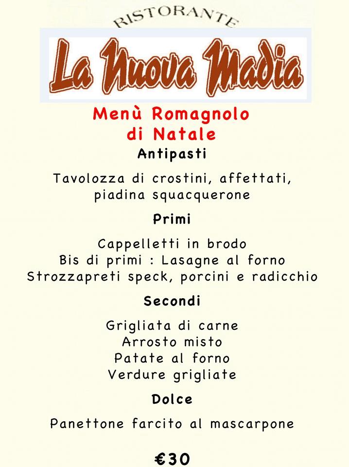 menu romagnolo di natale
