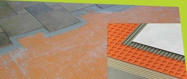 Dettaglio pavimentazioni e materiali per isolamento