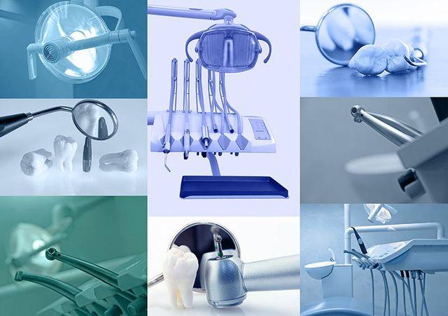 Set of dentist equipments