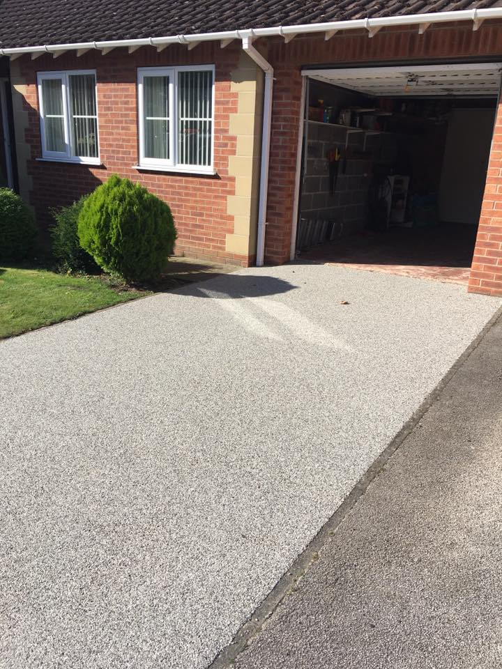 driveway in front of the home
