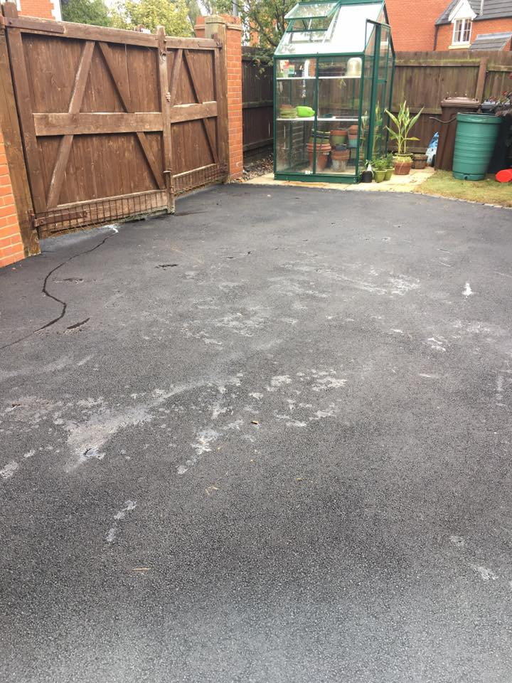 area after surfacing