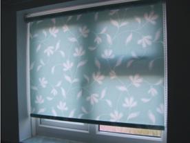 flower pattern on roller blinds