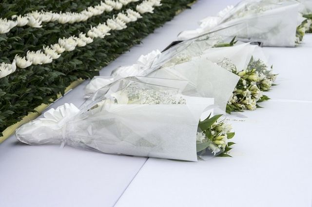 Mazzi di fiori bianchi