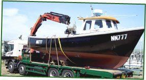 Groundwork contractors - Hastings - J Webb Plant Hire - boat