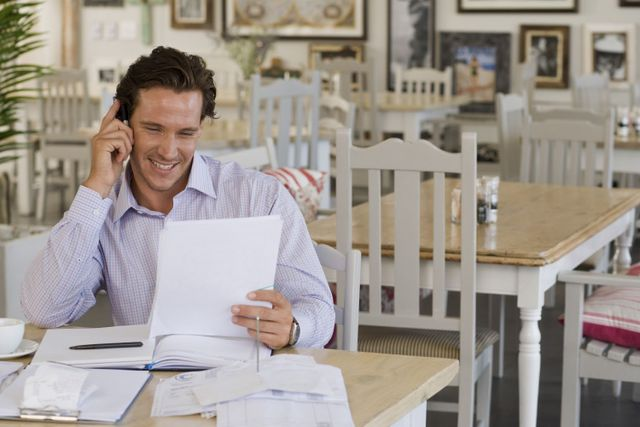 Business owner going over professional insurance in High Point, NC