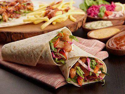 due kebab messi uno sopra l'altro