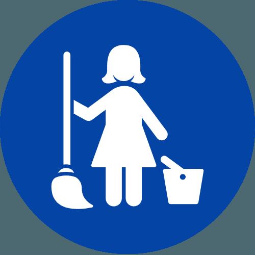 icona donna delle pulizie