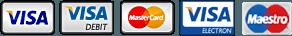 VISA MAESTRO MASTERCARD logos