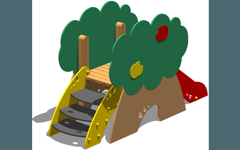 Scivolo in legno
