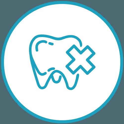 Icona del dolore ai denti