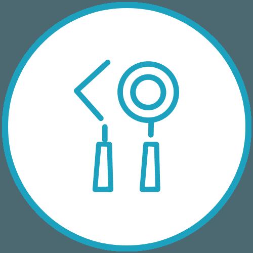 icona degli strumenti da dentista