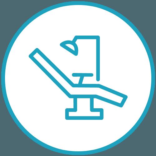 Icona della poltrona della sedia da dentista