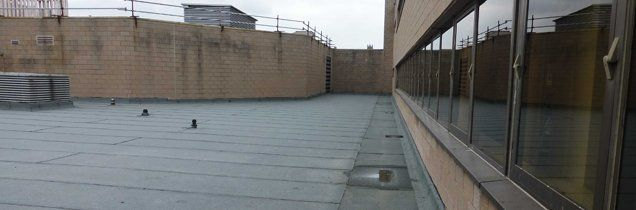 Single ply and felt flat roofing