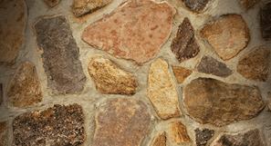 Irregularly shaped stones