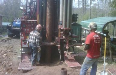 Worker ready for water well drilling in Port Jervis, NY