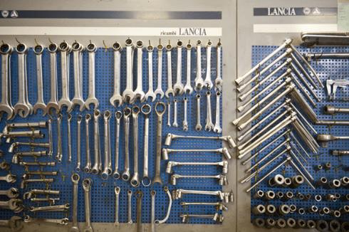 rastrelliera per attrezzi meccanici