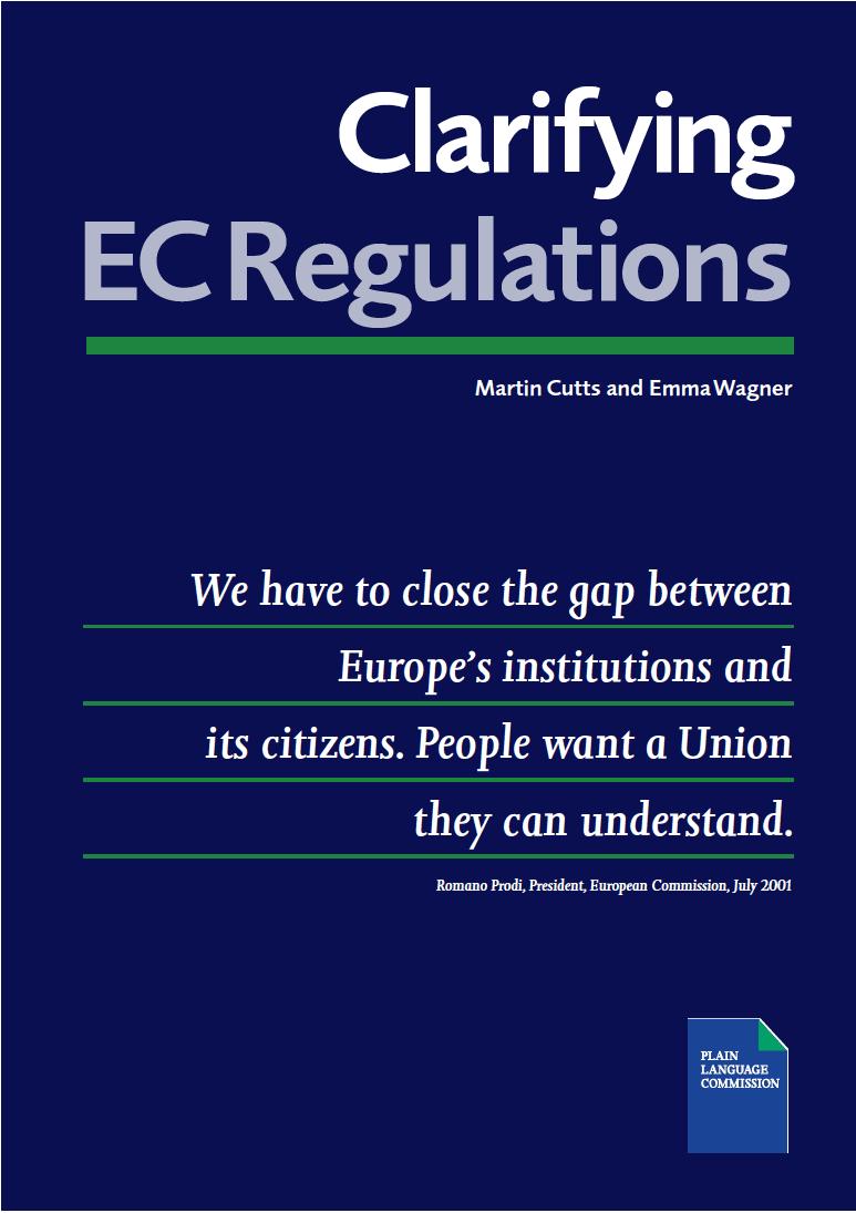 Book: clarifying EC regulations