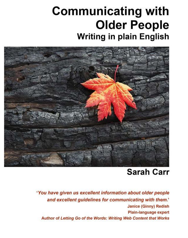 Book: communicating with older people, writing in plain English
