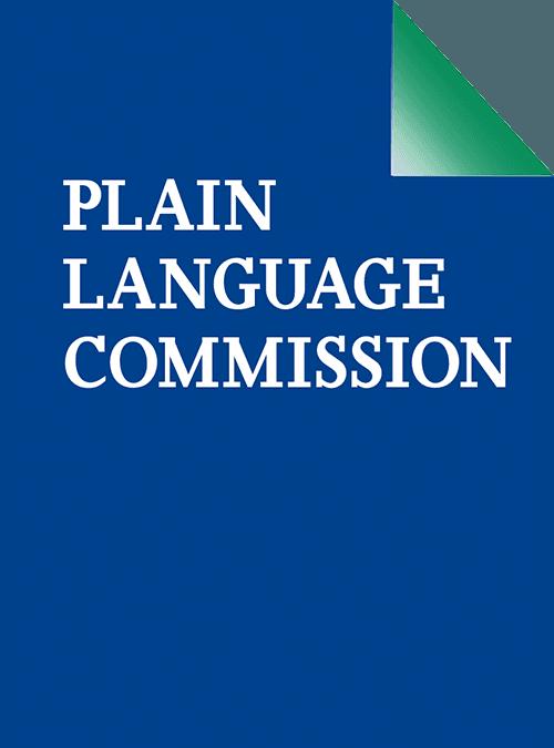 Plain Language Commission Professional editing services