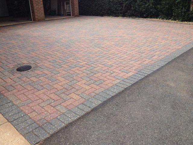 Block paving sealed