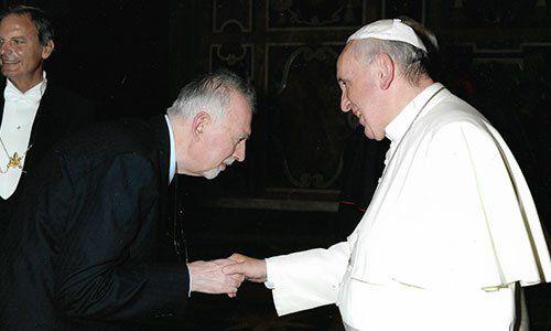 Avv. Carlo Gullo con Papa Francesco