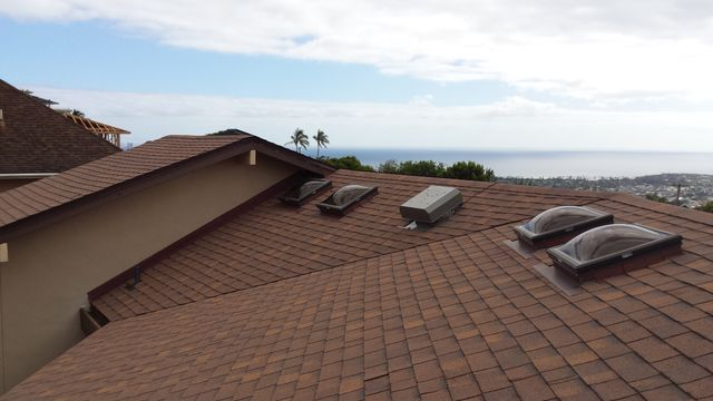 Skylights installed by Al Rezentes on a home in Pearl City, HI