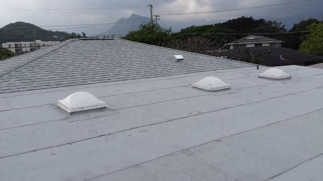 Re-roofing of house as part of a commercial roofing project on Oahu Hawaii