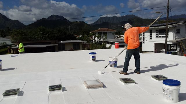 cool roof coating application