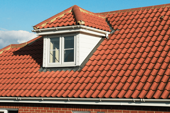 newly installed tile roof