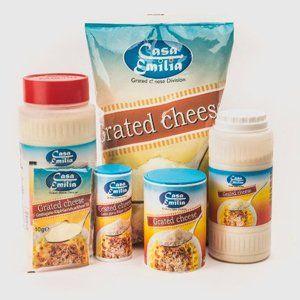 Confezioni di formaggio grattuggiato a marchio Casa Emilia