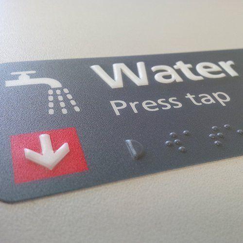 Water press tap panel