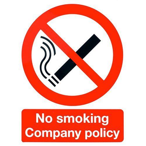 No smoking panel stickers