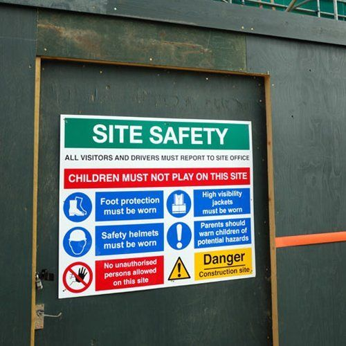 Site safety stickers
