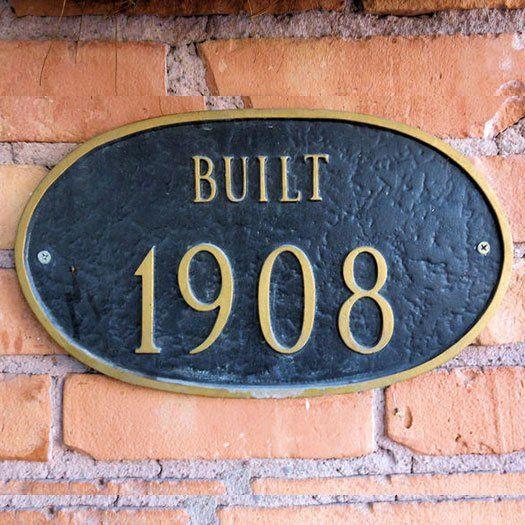 Built 1908 sign board